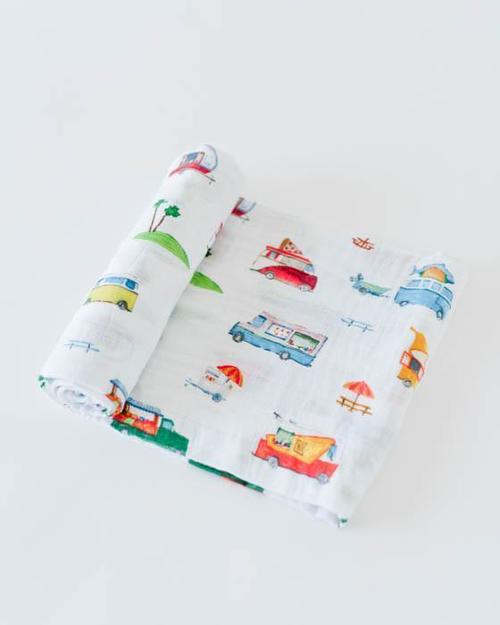 Food Truck Muslin Swaddle Blanket