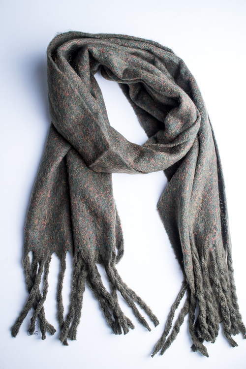 Soft Oversized Oblong Scarf - Olive