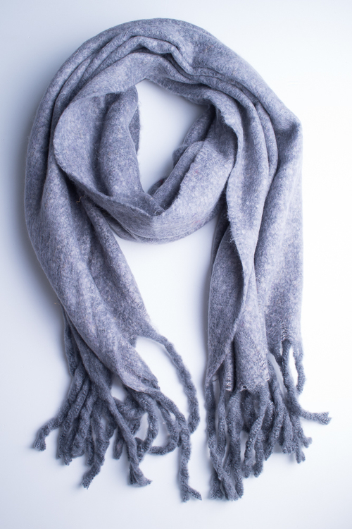 Soft Oversized Oblong Scarf - Grey