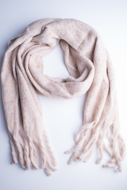 Soft Oversized Oblong Scarf - Ivory
