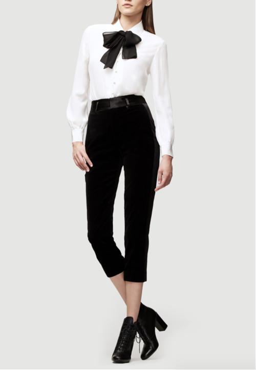 Velvet Tux Pant - Noir