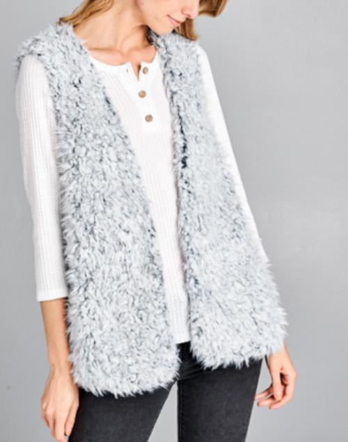 Shaggy Fur Vest