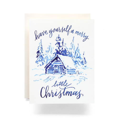 Indigo Little Christmas Greeting Card