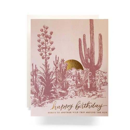 Greeting cards ish boutique ish boutique webstore shop in cactus sunset birthday card m4hsunfo