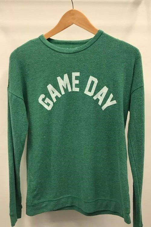 Game Day Print Green Pullover