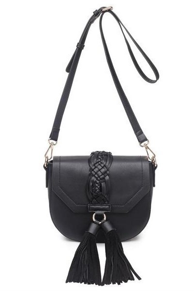 Dhalia Tassle Cross Body Black