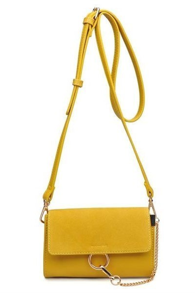 Carlotta Chain Cross Body Mustard Yellow