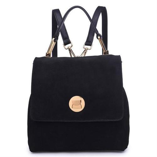 Antoinette Gold Buckle Backpack Black