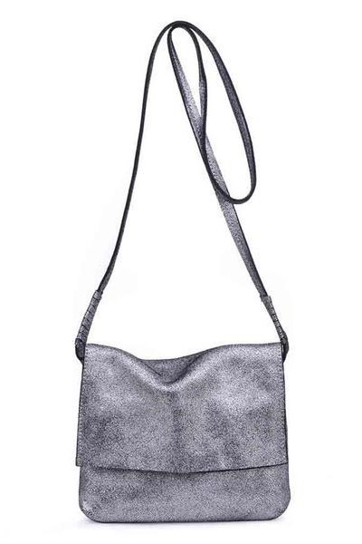 Monroe Metallic Cross Body Pewter