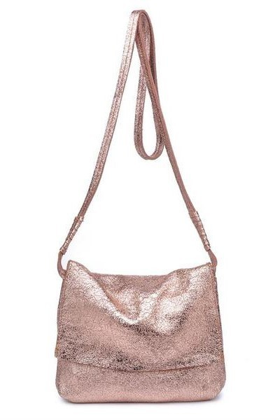 Monroe Metallic Cross Body Rose Gold