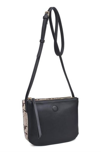 Adele Metallic Cross Body Black