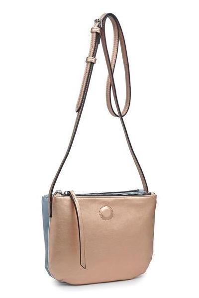 Adele Metallic Cross Body Rose Gold