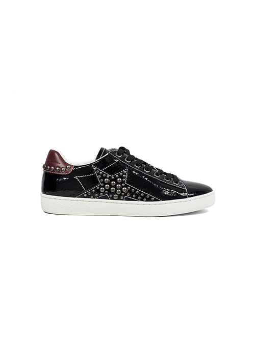 Studded Star Leather Sneakers