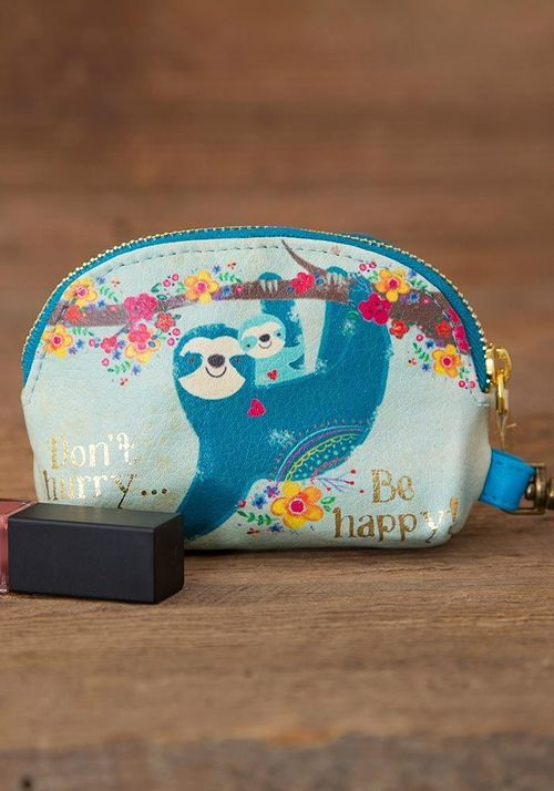 Don't Hurry Sloth Mini Pouch
