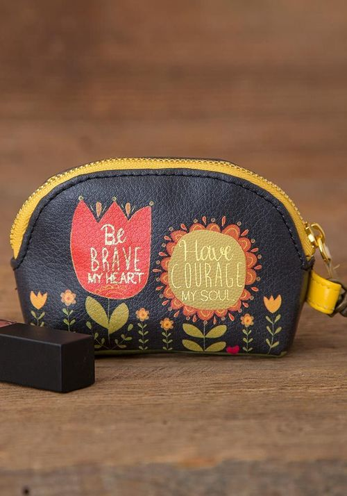 Be Brave my Heart Mini Pouch