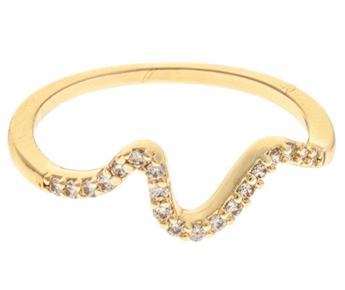Gold Thin Crystal Wave
