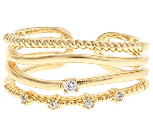 Gold Mixed Media Ring