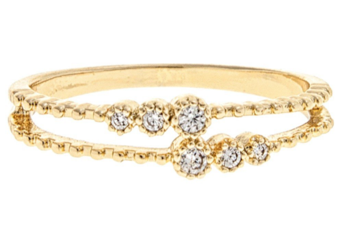 Gold Double Row Band