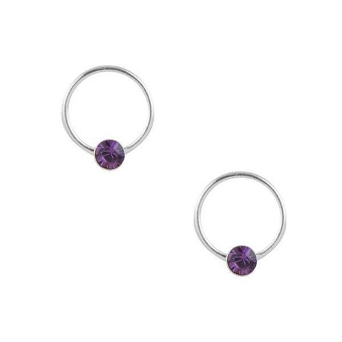 Purple Crystal and Open Circle Post