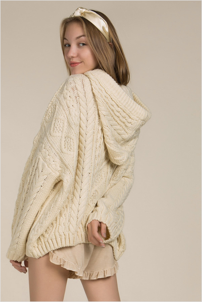 4dc35f26f55800 Chunky Oversized Cable Knit Pullover Sweater By Pol Clothing Inc ...