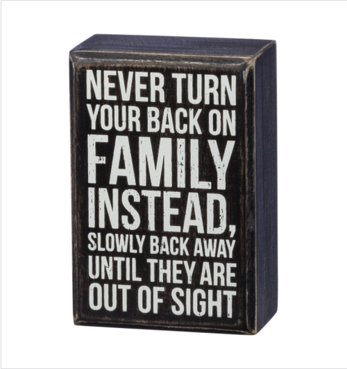 Back Away Box Sign