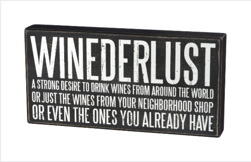 Winederlust Box Sign