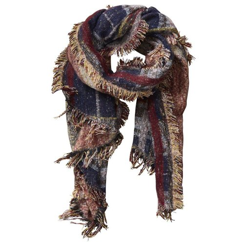 Wine Heritage Plaid Scarf