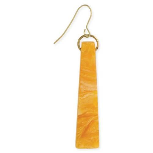 Amber Resin Bar Earrings