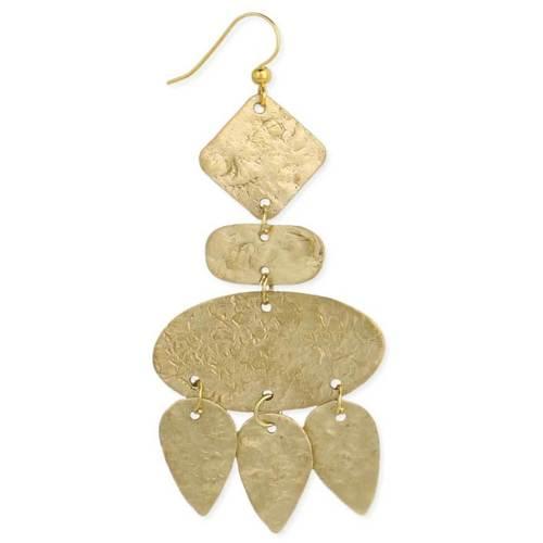 Textured Matte Gold 6 Piece Earrings