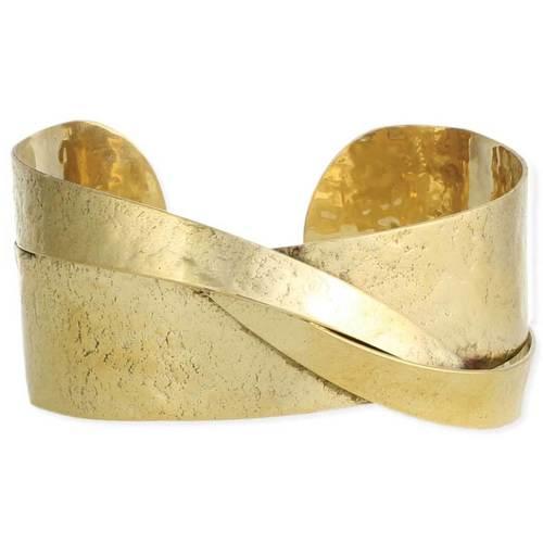 Textured Gold Sculptural Cuff