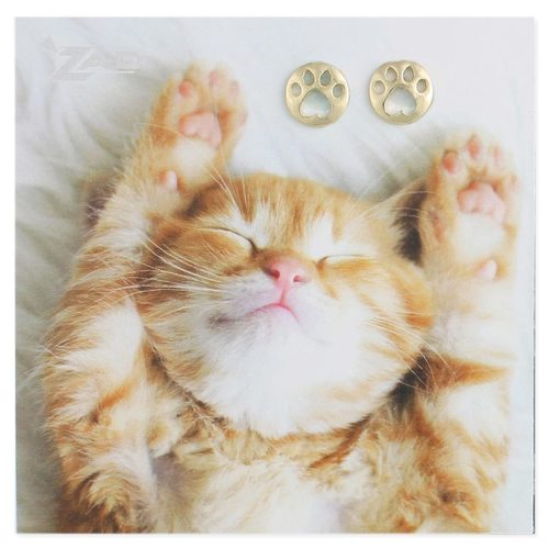 Gold Cutout Cat Paw