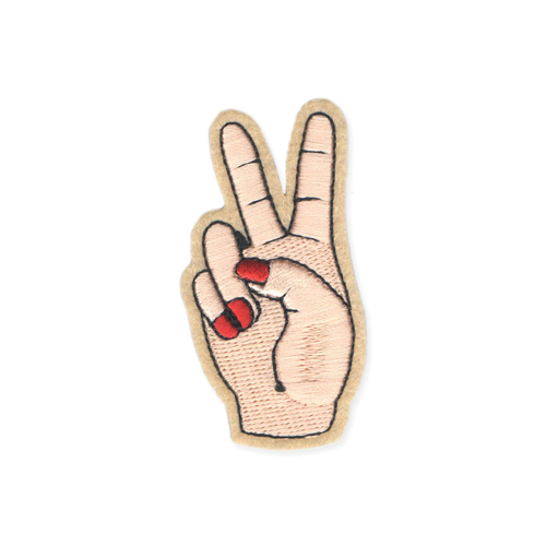 Peace Fingers Iron on Patch
