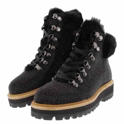 Black Jeweled Boots