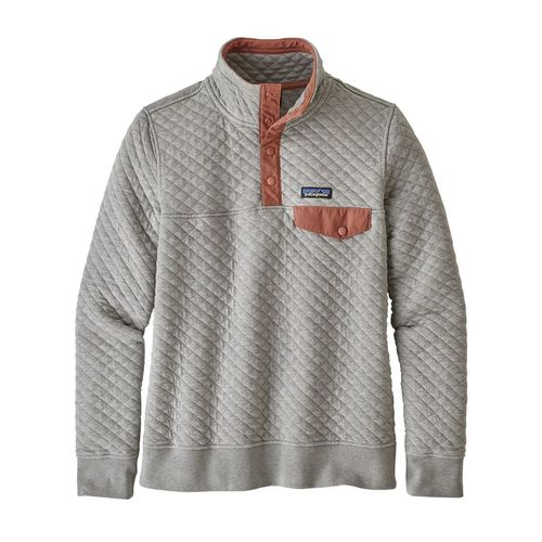 Patagonia W's Organic Cotton Quilt Snap-T P/O Drifter Grey