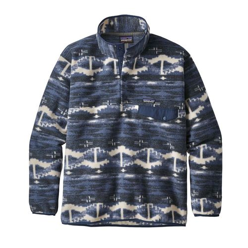 Patagonia M's Synch Snap-T P/O Shepherd Knit: Stone Blue