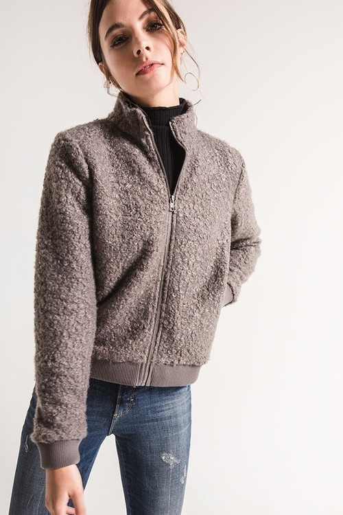 Colletta Sherpa Zip Up Jacket