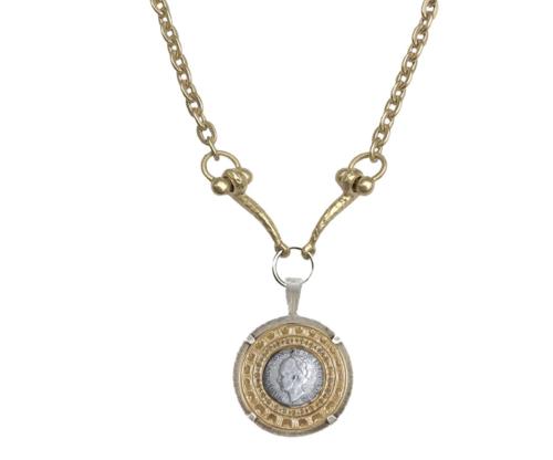 Vintage Silver Wilhelmina Crystal Bezel Necklace