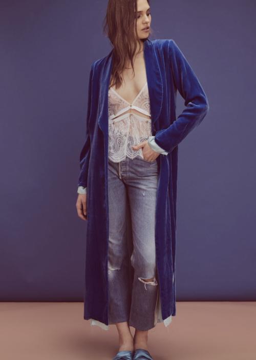 Nadine Velvet Coat