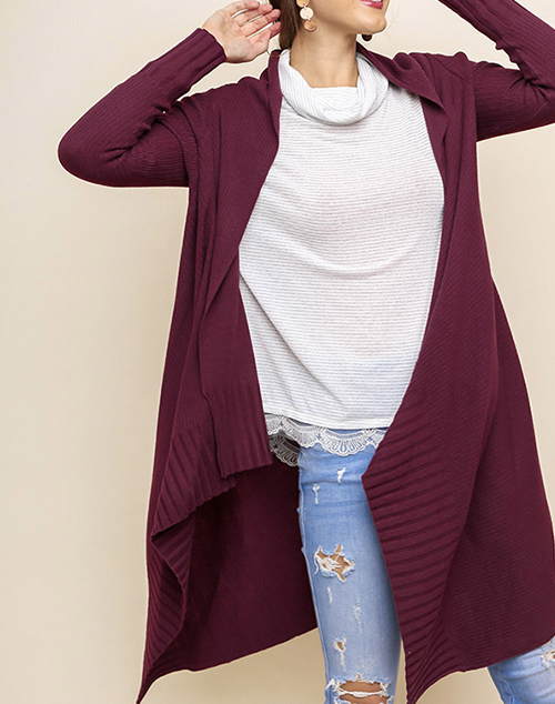 Long Sleeve Knit Long Cardigan