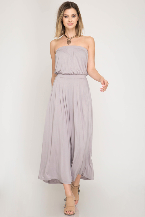 Strapless Tube Wide Leg Jumpsuit