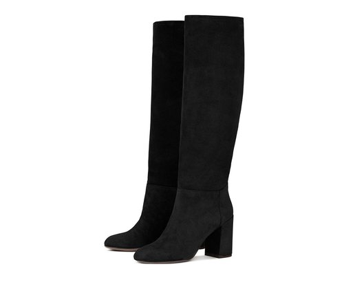 Calf Suede Leather Boots