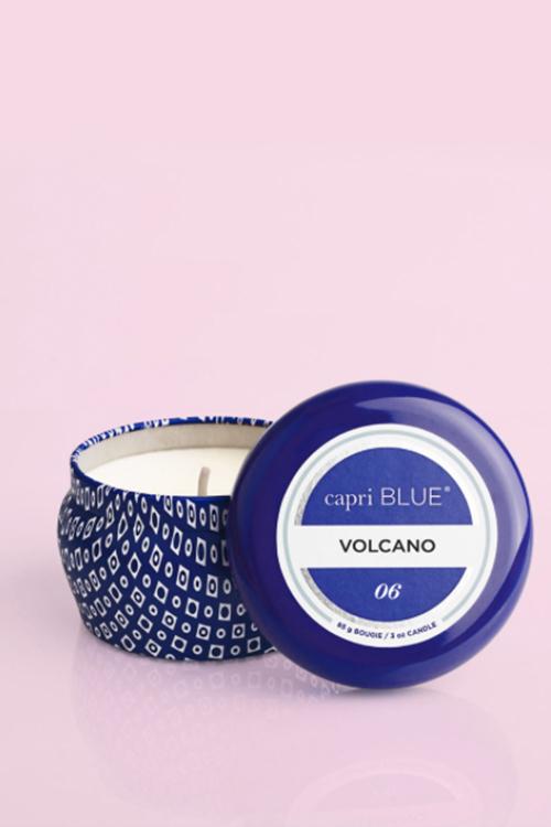Volcano Signature Blue Mini Tin Candle