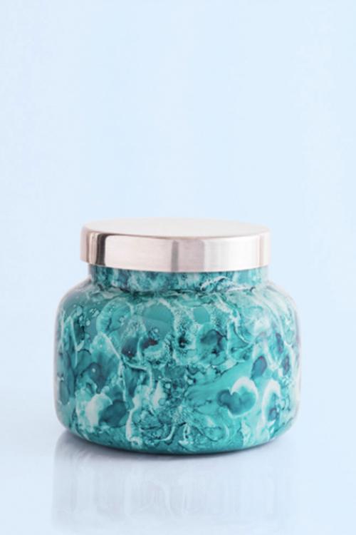 Mint Watercolor Volcano Jar Candle- 19oz