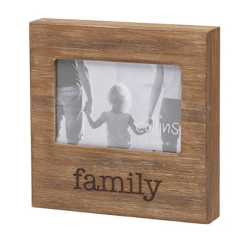 Family Burned Photo Frame
