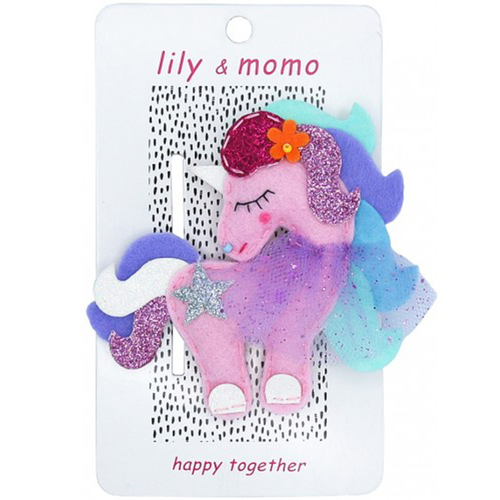 Marshmallow Unicorn Hair Clip