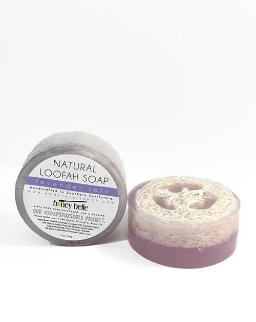 Lavender Rain Loofah Soap