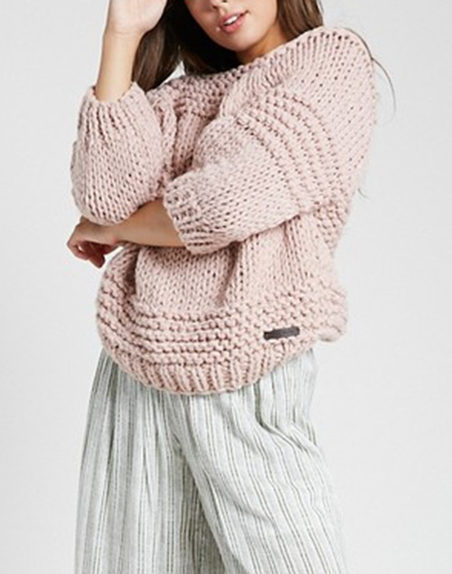 Chunky 3/4 Sleeve Sweater