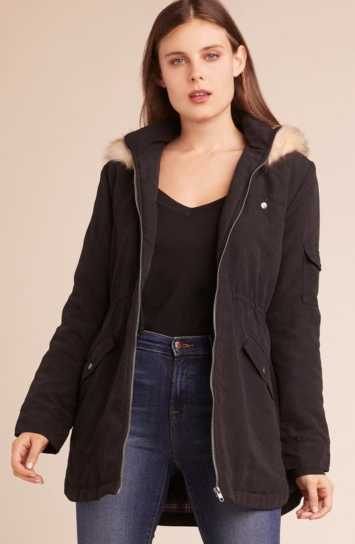Adventureland Hooded Black Coat