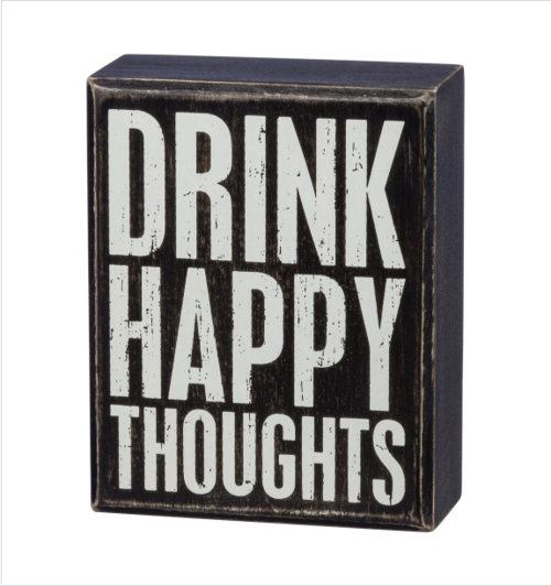 Happy Thoughts Box Sign