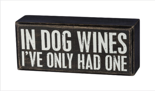 Dog Wines Box Sign